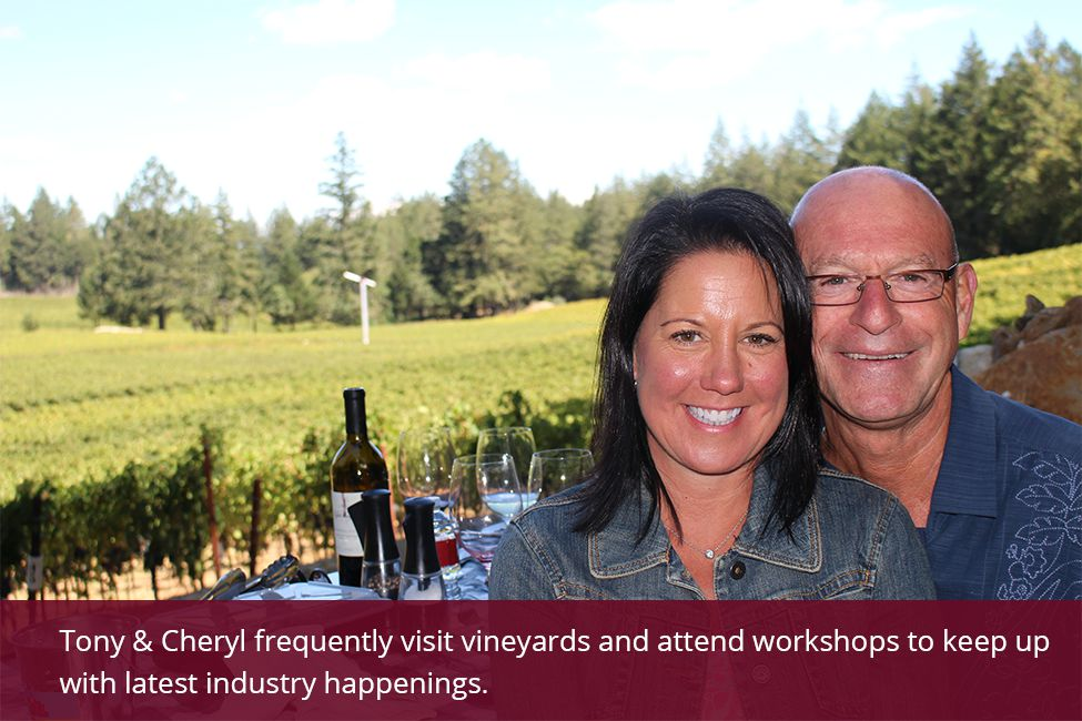 Cheryl and Tony from the Best Wine Shop in Town